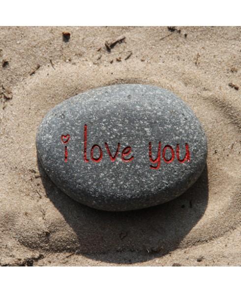 Tekststeen I love you