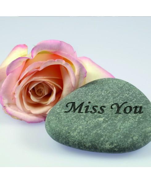 Miss you tekststeen