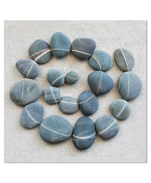 Wenskaart cirkel van stenen