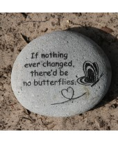 Tekststeen Butterflies
