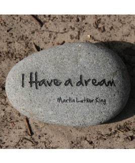 Tekststeen I have a dream