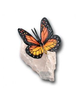 B Vlinder op rots A
