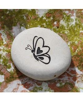Vlinder gravure wit