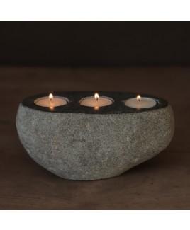 Waxinelichthouder natuursteen